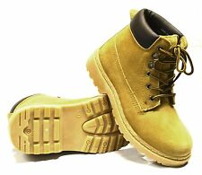 Girls Boys Kids Walking Hiking Leather Suede Ankle Hi Desert Boots Shoes Size