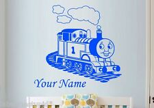 Thomas the Tank Engine Train Custom Name Wall Sticker  & Friends