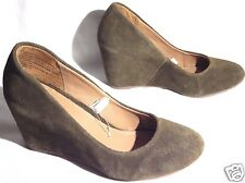 NEW Suede Leather Wedge Heels Shoes Merona Sz 5.5, 6, 6.5, 7.5