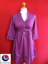 "BRAND NEW "" LA REDOUTE "" Pink Purple Blouse 3/4 Sleeve Long Casual Button Top"