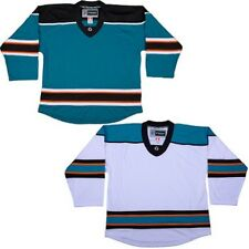 San Jose Sharks Hockey Jersey   NHL Replica Style   No Logo   TRON DJ300