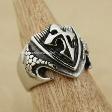 Cross Shield Rock & Punk 316L Stainless Steel Mens Biker Ring 7F002XG