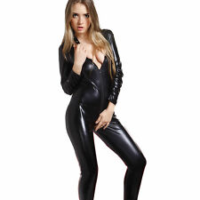 Catsuit WetLook Stretch Overall Body Ganzanzug Glanz Ganzkörperanzu​g Bodysuit