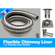 Chimney Liner Tee Kit 316ti Stainless Steel - Gas,Oil,Wood Stove