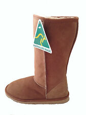 Australian Made Sheepskin Classic Tall UGG Boots Chestnut Colour Multi Size