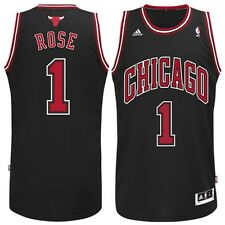 Derrick Rose # 1 Chicago Bulls Adidas Stitched Swingman Black Youth NBA Jersey