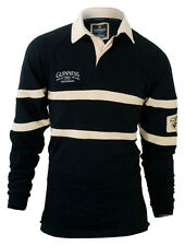 Guinness Black and Cream long-sleeve rugby shirt