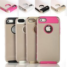Gold PC Shockproof Dirt Dust Proof Hard Matte Cover Case For iPhone 5 5S
