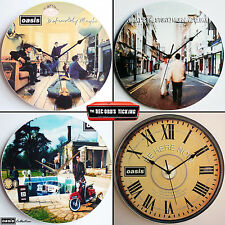 """Oasis Collection 12"""" Vinyl Record Clocks pretty green definitely maybe gallagher"""