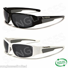 New Black White Designer Mens Ladies Unisex Wrap Biohazard Sunglasses UV400