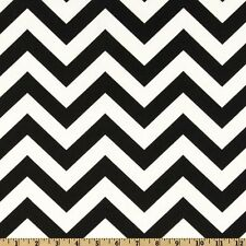 Premier Prints Zig Zag Chevron Black and White Home Decor Fabric - By the yard