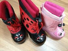 WESTERN CHIEF SNOWBOOTS SNOW BOOT Pink Kitty Cat Red Lady Bug 6 & 10 NEW IN BOX