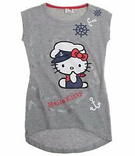 Hello Kitty T-Shirt Short Sleeve For Girls 7 to 14 Years | Grey