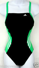 Adidas Swimsuit Solid Splice Vortex Green