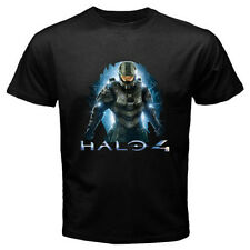 New HALO 4 THE SOLDIER Famous Video Game Men's Black T-Shirt Size S to 3XL