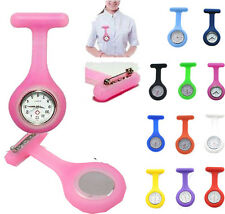 Large Clearance Silicone Nurse Doctor Medical Watch Brooch Tunic Fob Colors