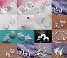 New wholesale Jewelry  fashion 925Silver beautiful Ladies Earrings + gift Box