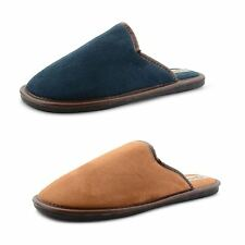 New Mens Coolers Fur Lining Slippers Comfy Indoor Lightweight Hard Sole Mule UK