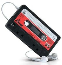 Black Retro Cassette Rubber Case Cover Pouch Back Cover For Apple iPhone