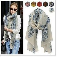 New Women Ladies Vintage Long Scarf Shawl Wrap Scarves
