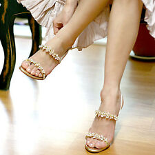 Women New 2014 Summer Faux Diamand Strappy Heels Casual Fashion Sandals Shoes