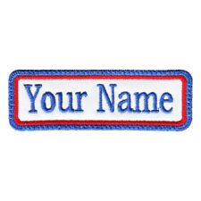 RECTANGULAR 1 LINE CUSTOM EMBROIDERED NAME TAG  (B)