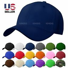 Velcro Baseball Army Cap Blank Plain Solid Sports Visor Sun Golf ball Hat Men