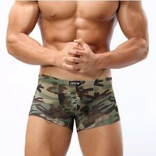 New Mens Cool Comfy Camouflage Sexy Boxers Briefs Camo Military Underwear M005