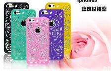 DI US New Rose Flower Hollow Simple Hard Case Cover For Apple iPhone 4 4s 5 5s