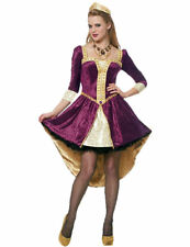 Adult Medieval Queen Maid Marion Robin Hood Fancy Dress Outfit Costume