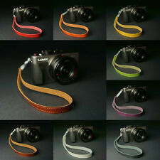 Genuine real leather camera strap wrist strap for EVIL FILM Camera 10 colors
