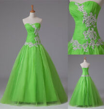 New Lime Green Prom Dress Quinceanera Dresses Formal Party Evening Gown Size2-14