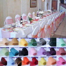 Organza Chair Cover Sashes Bow Table Runners for Wedding Party Decoration 10pcs
