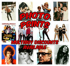 Glossy Photo Prints - Movie And Music Icons Celebrity Photos. Ideal For Framing