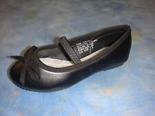 New Baby Girl Black Flats Ballerina Slippers/ Slip On Shoes/size 6-9 Toddler