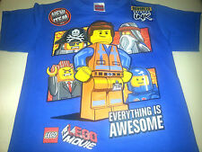 THE LEGO MOVIE BOYS EVERYTHING IS AWESOME EMMET BENNY T SHIRTS  SIZE  8