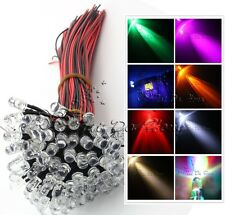 10-100 pcs 3mm/5/10mm Pre Wired LED Lamp Emitting Diode RGB UV Flash Brake Light