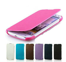 Leather Flip Hard Skin Case Cover For Samsung Galaxy S Duos S7562 / S7560M