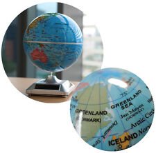 Globe Solar Powered Spinning globes Self Rotating Earth World Educational Deco