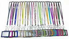 Breakaway Rhinestone LANYARD with Horizontal ID Badge Holder