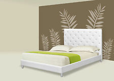 Elegant Queen Platform Bed with Crystal Studs ( 2 Colors)