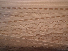 """1"""" wide Ivory White Flat lace Trim Fabric Scallop Edge By The Yard, 5yd min"""