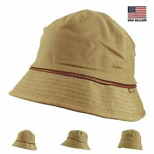 Womens Mens Unisex Olive Spring Summer Cotton Packable Fishing Hiking Bucket Hat