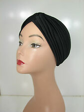 Black Superior Quality Stretchable Turban Hat Sale!