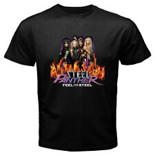 New STEEL PANTHER *Feel The Steel Rock Band Metal Men's Black T-Shirt Size S-3XL