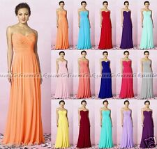 New Long Chiffon Formal Evening Prom Party Ball Gown Bridesmaid Dress Size 6-18
