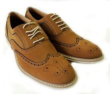 NEW  FASHION MENS LACE UP WING TIP OXFORDS CASUAL LEATHER LINED DRESS SHOES/ BR