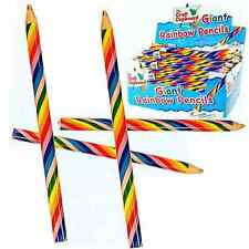 Giant Rainbow Pencils Crayon Stationery Sets Loot Party Bag Fillers Prizes Games