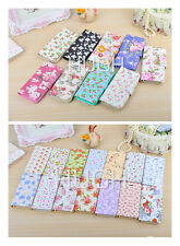 Fancy flowers Floral Pattern PU leather wallet flip cover case for iPhone 5 5S