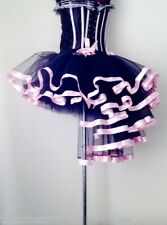 Burlesque Black Baby PinK Tutu Skirt XS S M L XL Bustle Sexy Showgirl FancyDress
